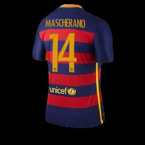 Camiseta del Numero 14 MASCHE Barcelona Primera Equipacion 2015/2016