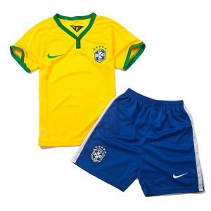 Camiseta Brasil de la Seleccion Primera WC2014 Nino