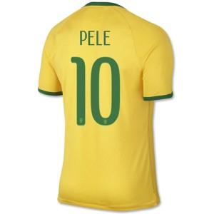 Camiseta nueva Brasil de la Seleccion Pele Primera WC2014