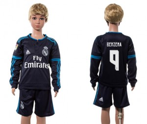 Camiseta nueva Real Madrid Ni?os 9# Manga Larga 2015/2016