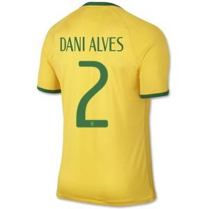 Camiseta nueva del Brasil de la Seleccion WC2014 Dani Alves Primera