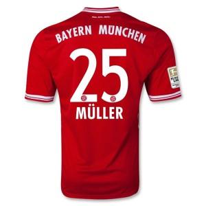 Camiseta del Muller Bayern Munich Primera Equipacion 2013/2014