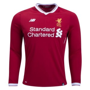 Camiseta de Liverpool 2017/2018 Home Long Sleeve