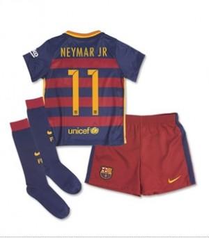 Kit nueva Barcelona Boys NEYMAR JR Little Home 15/16