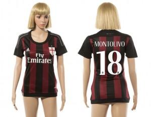 Camiseta AC Milan 18 2015/2016 Mujer