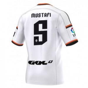 Camiseta de Valencia 2014/2015 Primera Shkodran Mustafi Equipacion