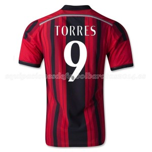 Camiseta del Torres AC Milan Primera Equipacion 2014/2015