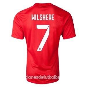 Camiseta de Inglaterra de la Seleccion WC2014 Segunda Wilshere
