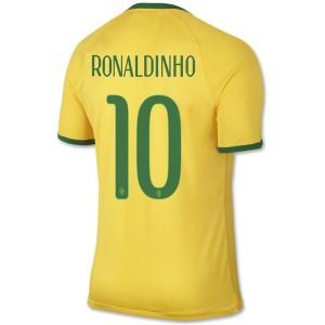 Camiseta nueva Brasil de la Seleccion Ronaldinho Primera WC2014