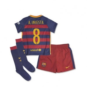 Kit de Barcelona 15/16 Home A. INIESTA Little Boys