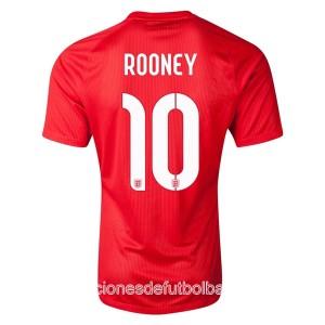 Camiseta de Inglaterra de la Seleccion WC2014 Segunda Rooney