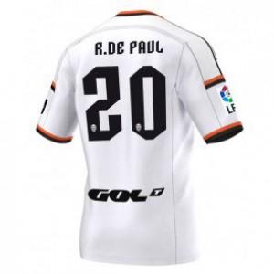 Camiseta de Valencia 2014/2015 Primera Rodrigo Paul Equipacion