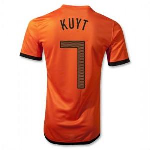 Camiseta del Kuyt Holanda de la Seleccion Primera 2012/2014
