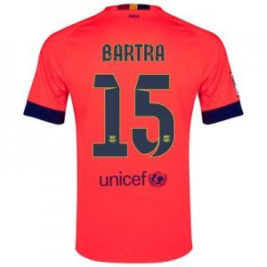 Camiseta nueva Barcelona BARTRA Equipacion Segunda 2014/2015