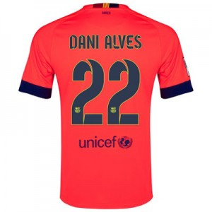 Camiseta Barcelona Dani Alves Segunda Equipacion 2014/2015