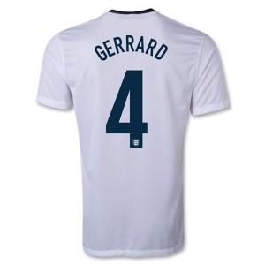 Camiseta del Gerrard Inglaterra de la Seleccion Primera 2013/2014