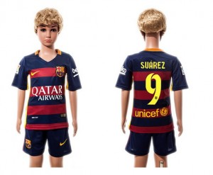Ni?os Camiseta del #09 Barcelona Home 2015/2016