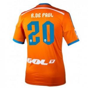 Camiseta nueva del Valencia 2014/2015 Equipacion Rodrigo Paul Segunda