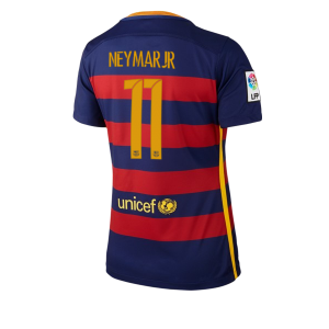 Mujer Camiseta del Numero 11 Barcelona Primera Equipacion 2015/2016
