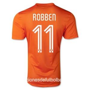Camiseta nueva Holanda de la Seleccion Robben Primera WC2014