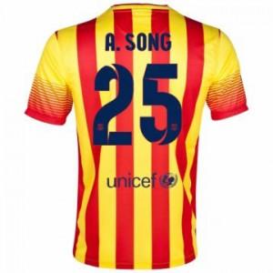 Camiseta Barcelona A.Song Segunda Equipacion 2013/2014