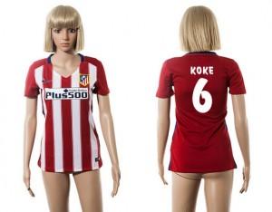 Camiseta nueva del Atletico Madrid 2015/2016 6 Mujer
