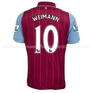 Camiseta del Weimann Aston Villa Primera Equipacion 2014/15