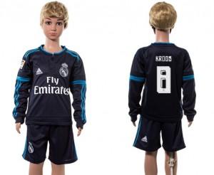 Camiseta Real Madrid 8# Manga Larga 2015/2016 Ni?os