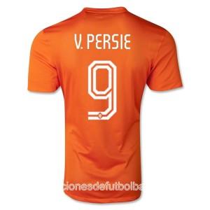 Camiseta de Holanda de la Seleccion WC2014 Primera V.Persie