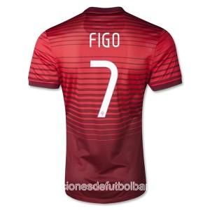 Camiseta nueva Portugal de la Seleccion Figo Primera 2013/2014
