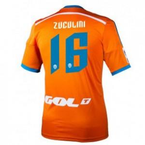 Camiseta nueva del Valencia 2014/2015 Equipacion Bruno Zuculini Segunda