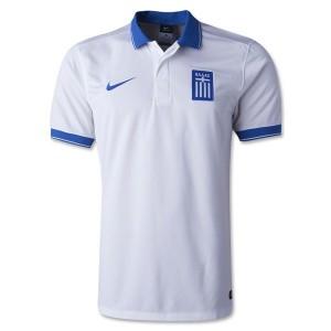 Camiseta Grecia de la Seleccion Primera 2014
