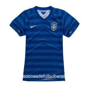 Camiseta de Brasil de la Seleccion WC2014 Segunda Mujer