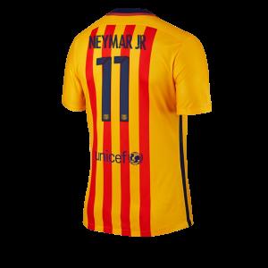 Camiseta Barcelona Numero 11 NEYMAR Segunda Equipacion 2015/2016