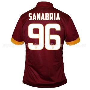 Camiseta del Sanabria AS Roma Primera Equipacion 2014/2015