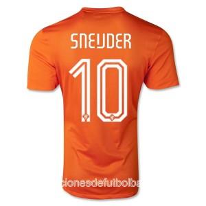 Camiseta nueva del Holanda de la Seleccion WC2014 Sneijder Primera