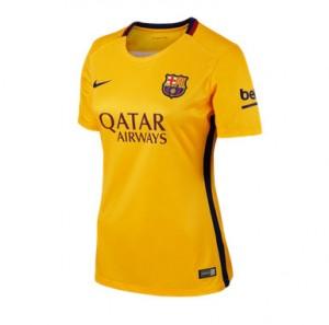Mujer Camiseta del Barcelona Segunda Equipacion 2015/2016