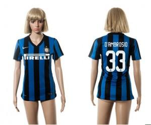 Camiseta nueva del Inter Milan 2015/2016 33 Mujer