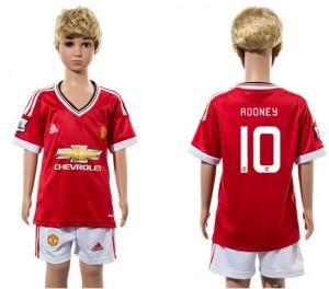 Camiseta nueva del Manchester United 2015/2016 10 Ni?os