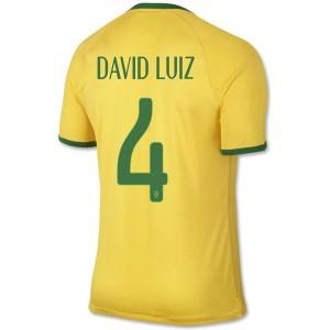 Camiseta Brasil de la Seleccion David Luiz Primera WC2014