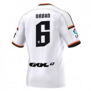 Camiseta del Lucas Orban Valencia Primera Equipacion 2014/2015