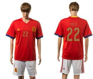 Camiseta nueva del España 2015-2016 22#