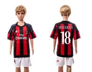 Camiseta nueva AC Milan Ni?os #18 Home 2015/2016