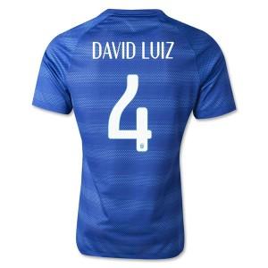 Camiseta del David Luiz Brasil de la Seleccion Segunda WC2014