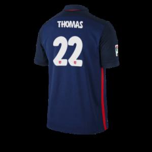 Camiseta de Atletico Madrid 2015/2016 Segunda THOMAS Equipacion