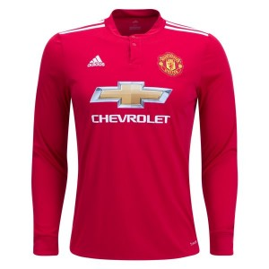 Camiseta nueva del Manchester United 2017/2018 Long Sleeve Home