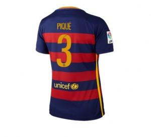 Camiseta Barcelona Numero 03 Primera Equipacion 2015/2016 Mujer