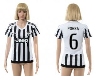 Mujer Camiseta del 6 Juventus 2015/2016