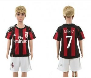Camiseta nueva del AC Milan 2015/2016 7 Ni?os