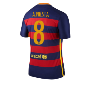 Camiseta nueva del Barcelona 2015/2016 Equipacion Numero 08 A. INI Primera